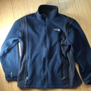 Used boys north face sweatshirt, size large